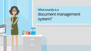 Image of woman asking what is document management